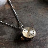 antique dial&movement reversible petit necklace【K0583】