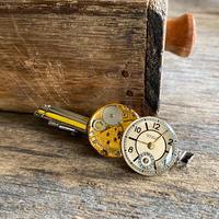 antique dial&movement tiepin