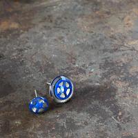 【STYLES】coloring gear pierced earrings blue【K0472】
