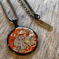 【new】CLOPOA BLACK standard necklace orange【K0576】