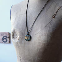 CLOPOA black  standard necklace turquoise blue