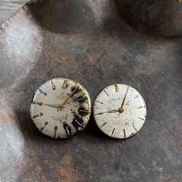 【STYLES】antique damage dial pierced earrings【K0466】