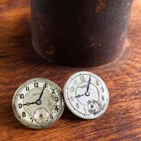 antique dial pierced earrings 【K0586】