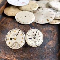 antique dial pierced earrings