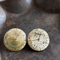 antique damage dial pierced earrings【K0527】