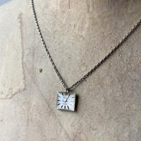 【STYLES】antique silver dial necklace 【K0425】