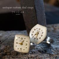 antique time order dial rings【受注製作】