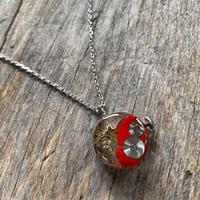 antique dial&movement colors reversible necklace red
