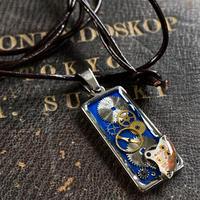 【STYLES追加掲載】CLOPOA  square necklace blue【K0493】