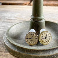 antique dial earrings