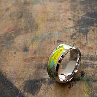 【STYLES追加掲載】CLOPOA flat ring yellow×light green 【K0487】