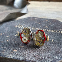 antique movement colors cufflinks red