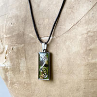 CLOPOA square necklace light green