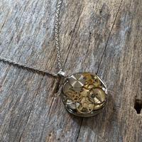 antique caseback large necklace