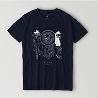"【STYLES】9時5分の歯車×HARUKA FUKUSHI ""STYLES"" Tシャツ ネイビー"