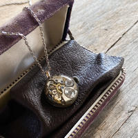 antique dial&movement reversible necklace