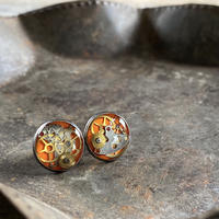 CLOPOA standard pierced earrings orange