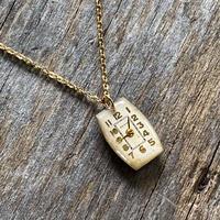 antique rectangle dial necklace K18GP