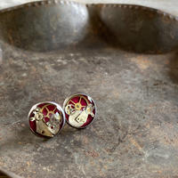 CLOPOA standard pierced earrings bordeaux