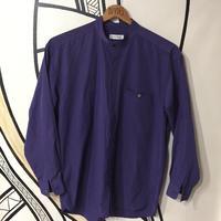 【モダン】ヴィンテージパープルスタンドカラーシャツ