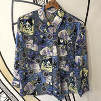 【個性的】ミュシャ風 デザイン 柄シャツ