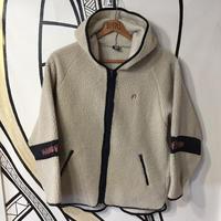 【90's】HANGTENホワイトボアジャケットパーカー