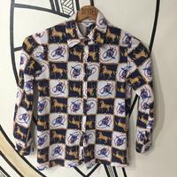 【SALE】貴族ホース柄 日本製 柄シャツ
