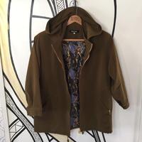 【一点物】レトロスカーフ柄  日本製ブラウンジャケット