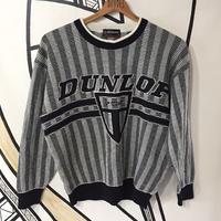 DUNLOP ダンロップ 日本企業モノトーン ストライプニット