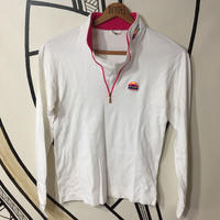 【SALE】90s  ellesse カラフルロゴ ハイネック スキーロングTシャツ