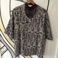 【KIMONO】ヴィンテージ パープル モザイク柄 着物 羽織 ガウン