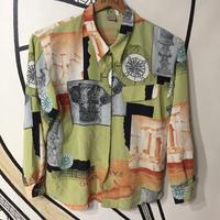 【一点物】古代柄ヴィンテージ日本製ド派手柄シャツ