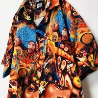 【ROCK】Jimi Hendrix ジミヘンサイケデザインシャツ