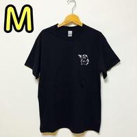 【M】黒ワンポイントカッパTシャツ