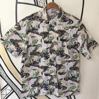 【XL】DOGTOWN 和柄 デザイン ビッグシルエット 柄シャツ