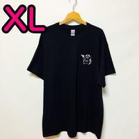 【XL】黒ワンポイントカッパTシャツ
