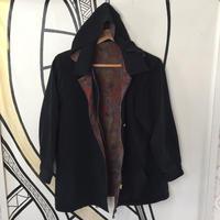 【個性的】レトロ奇抜柄ブラックジャケット