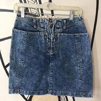 【個性的】ヴィンテージ ケミカル 変形 日本製 デニム スカート