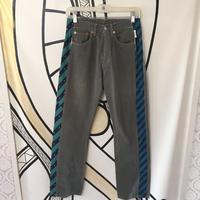 【リメイク品】Levis 501 グリーン&ブルー デニムパンツ