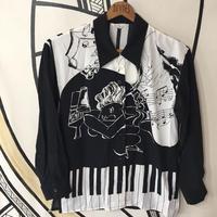 【スぺシャル】JAZZ BAR デザイン 日本製 柄シャツ