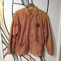 【ストリート系】オレンジ刺繍フリースコーチジャケット