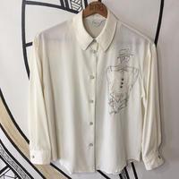 【一点物】レトロ ファッションガール デザイン 柄シャツ