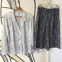 【個性的】ヴィンテージ 開襟柄シャツ&袴パンツ キュロット セットアップ