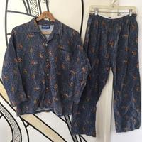 【個性的】POLO ペイズリー 総柄 パジャマ 日本製 セットアップ