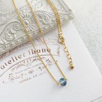 [即納][14kgf] 3月誕生石/小さなアクアマリンのネックレス