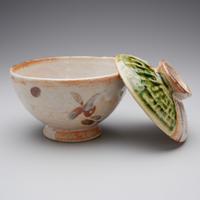 永江 港史 織部飯茶碗