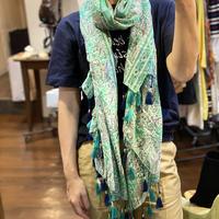 Paisley Cotton Scarf (Emerald)
