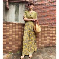 Vneck maxi summer dress(botanical)