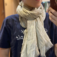 Little bird foot print cotton scarf