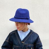 Short brim wool HAT (Blue)